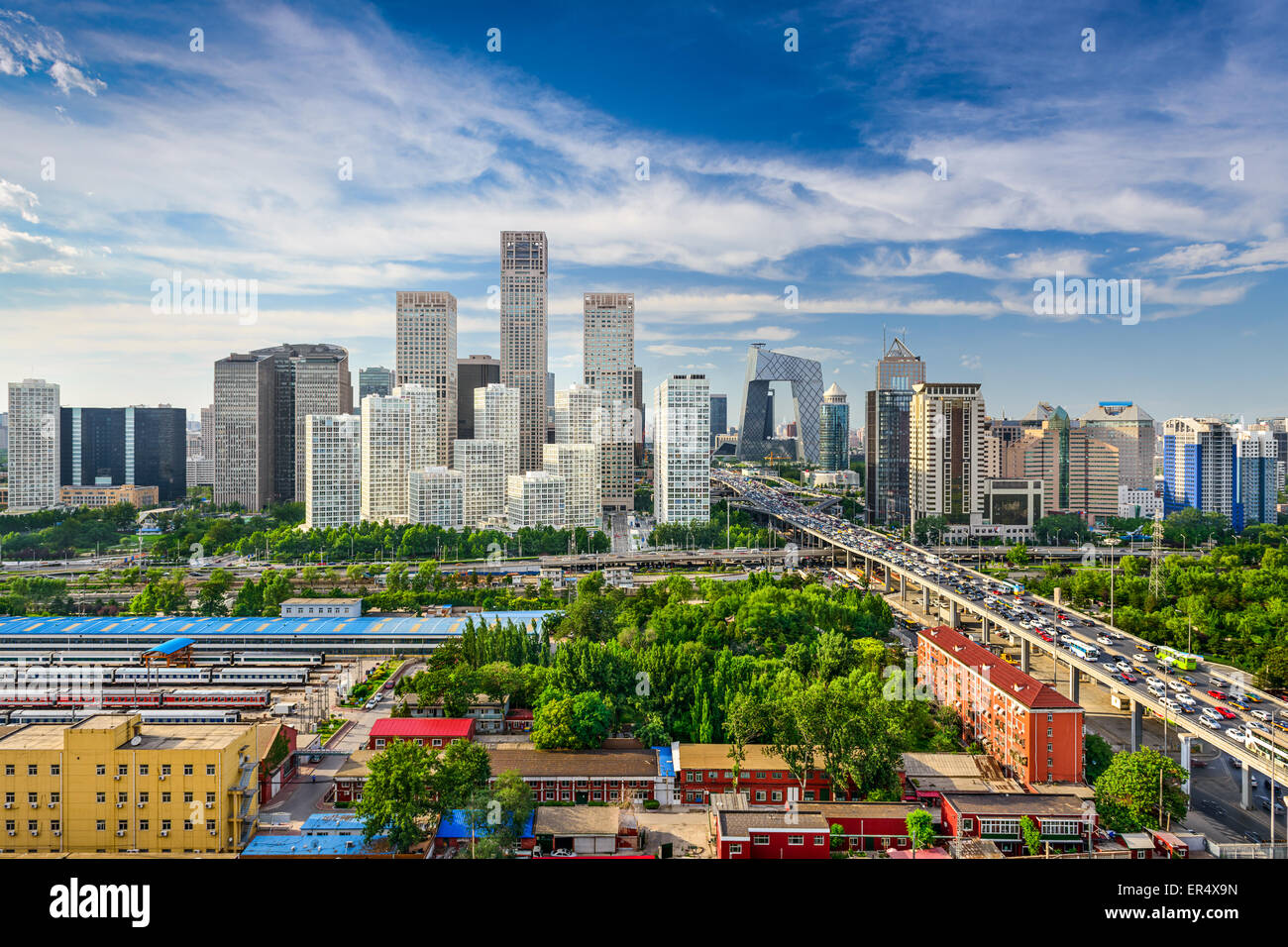 Pechino, Cina skyline di CBD. Foto Stock