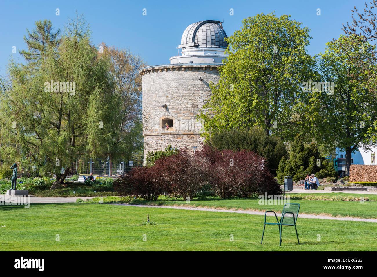 Osservatorio Erfurt nella vecchia torre nord di Cyriaksburg, egapark, BUGA 2021, Erfurt, Turingia, Germania Immagini Stock