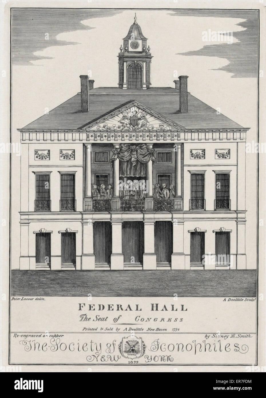 Sala federale. La sede del Congresso. Data 1899. Immagini Stock