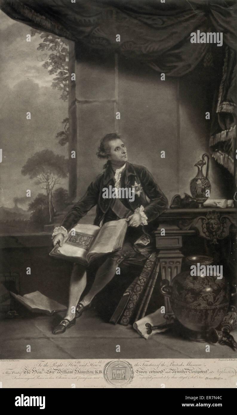 Onorevole Sir William Hamilton. Foto Stock