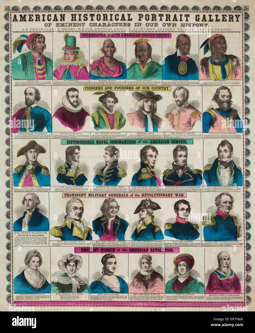 Storico americano portrait gallery. Immagini Stock