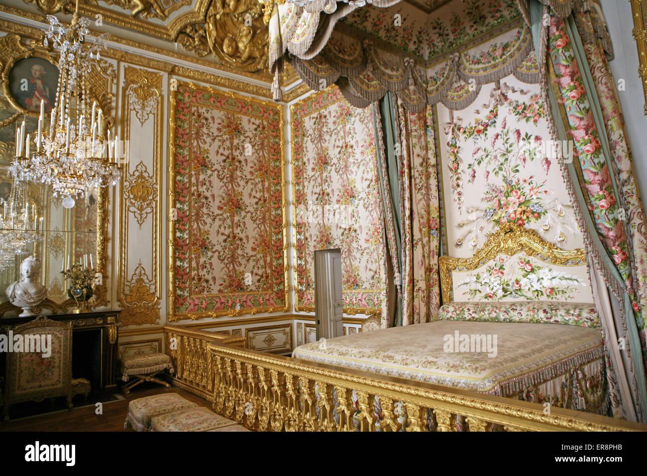 La Queens In Camera Da Letto O Bedchamber Palace Versailles Francia Foto Stock Alamy