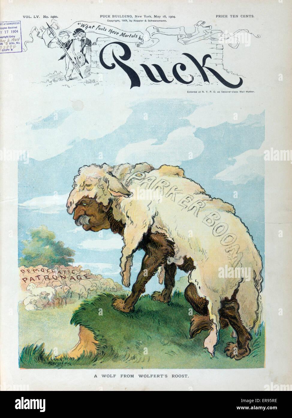 Un lupo da Wolfert s Roost. Illustrazione mostra Alton B. Parker( ) come bc011db8e96c