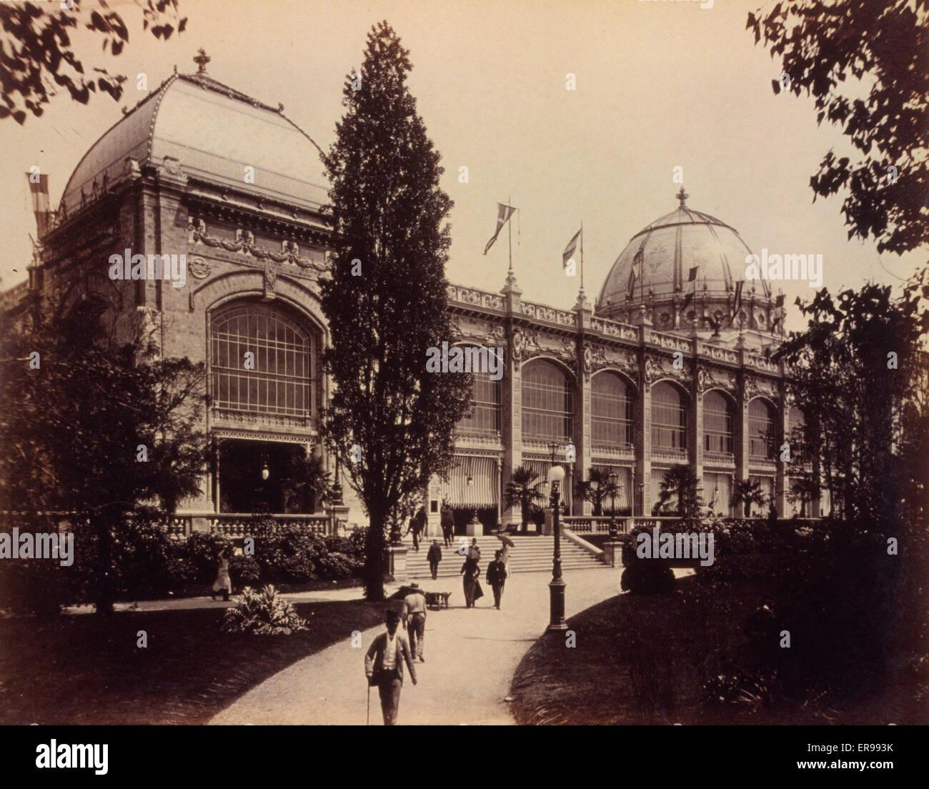 Palazzo delle Belle Arti, Esposizione di Parigi, 1889. Data di 1889. Immagini Stock