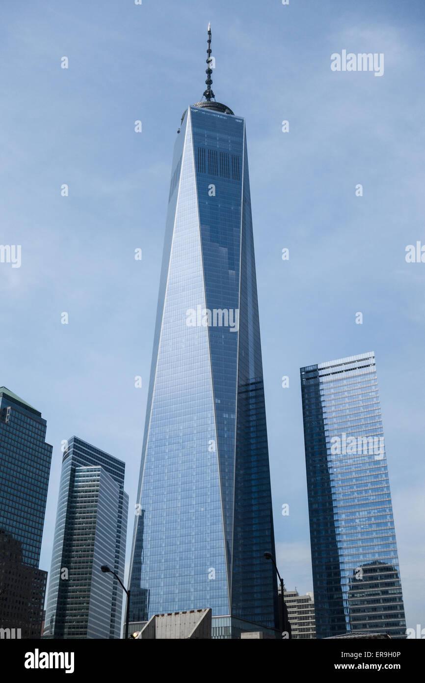 One World Trade Center sul sito originale del World Trade Center di Manhattan, New York New York. Immagini Stock