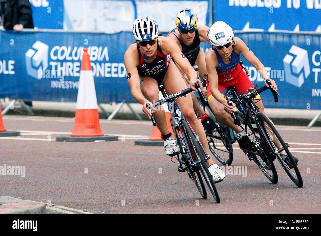 Londra, Regno Unito. 31 Maggio, 2015. Sarah vero (USA) nel ciclismo gamba durante la vitalità del mondo London Immagini Stock