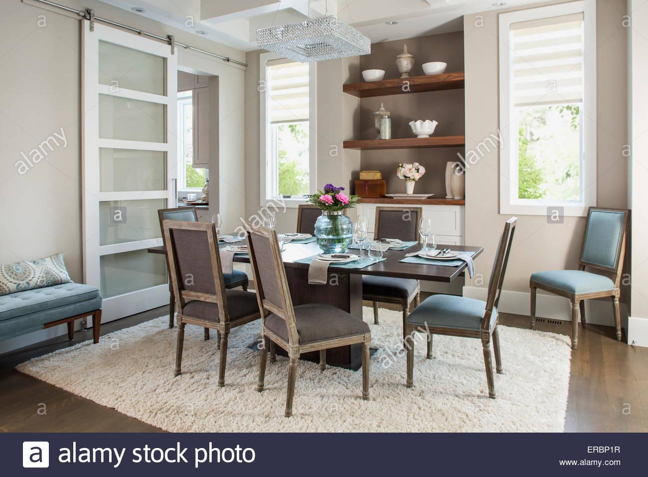 Elegante sala da pranzo Immagini Stock
