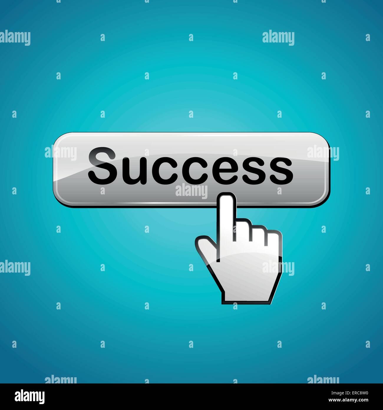 Illustrazione Vettoriale di successo concetto astratto sfondo Immagini Stock