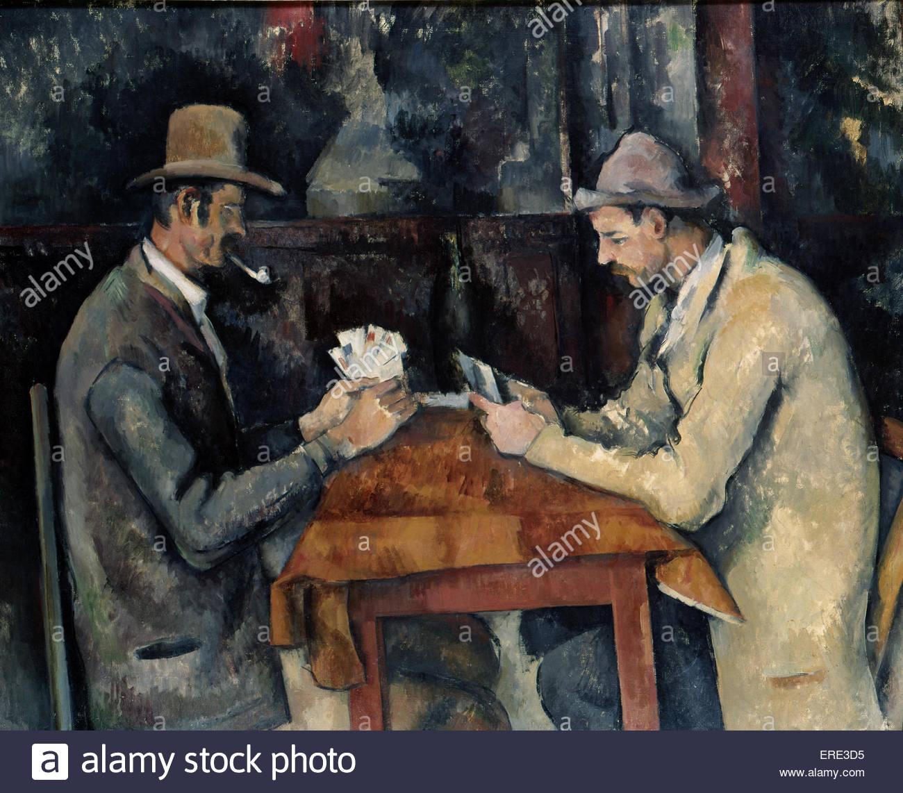 La scheda giocatori di Paul Cezanne, 1893-6. PC, artista francese: 19 gennaio 1839 - 22 ottobre 1906. La cortesia Immagini Stock