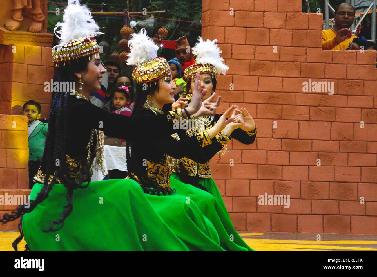 Il Surajkund artigianato internazionale Mela in India Haryana 2st Feb 2015 Immagini Stock