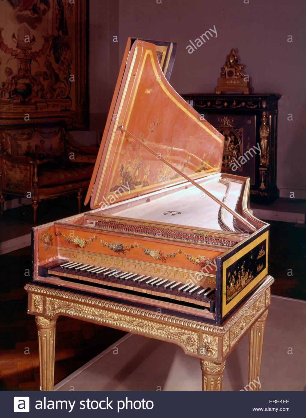 Il clavicembalo, realizzata da Pascal Taskin, Parigi 1786. (V& un museo, Londra). Immagini Stock