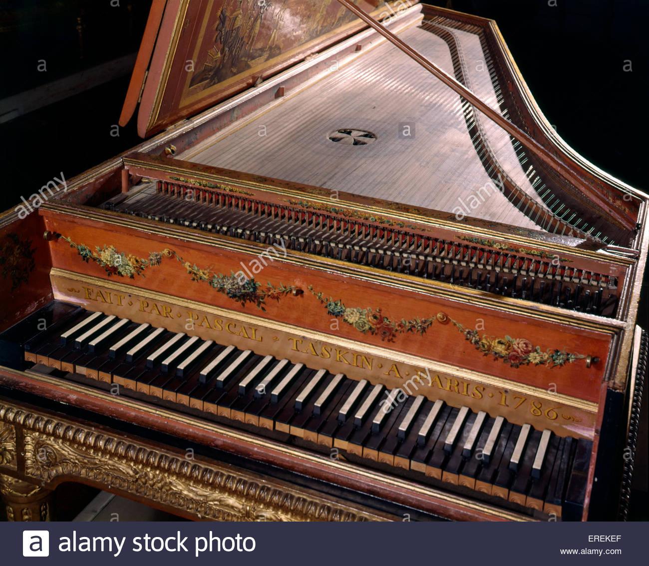 Il clavicembalo, realizzata da Pascal Taskin, Parigi 1786. (V &un museo, Londra). Immagini Stock