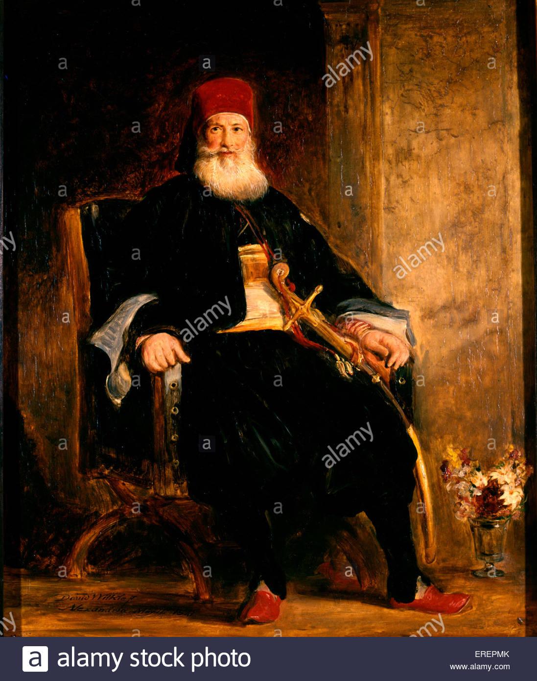 Sua Altezza Muhemed Ali Pacha di Egitto da Sir David Wilkie, 1841. Olio su tavola, supporto: 610 x 508 mm. MA: Muhammad Immagini Stock
