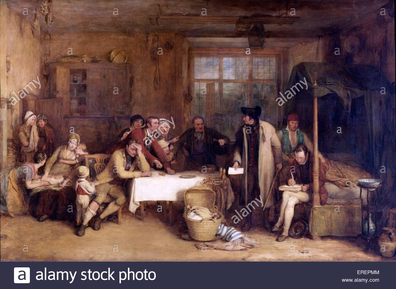 Per sequestrante Affitto da Sir David Wilkie, 1815.olio su pannello, 81.30 x 123.00 cm. Mostra ufficiale giudiziario Immagini Stock