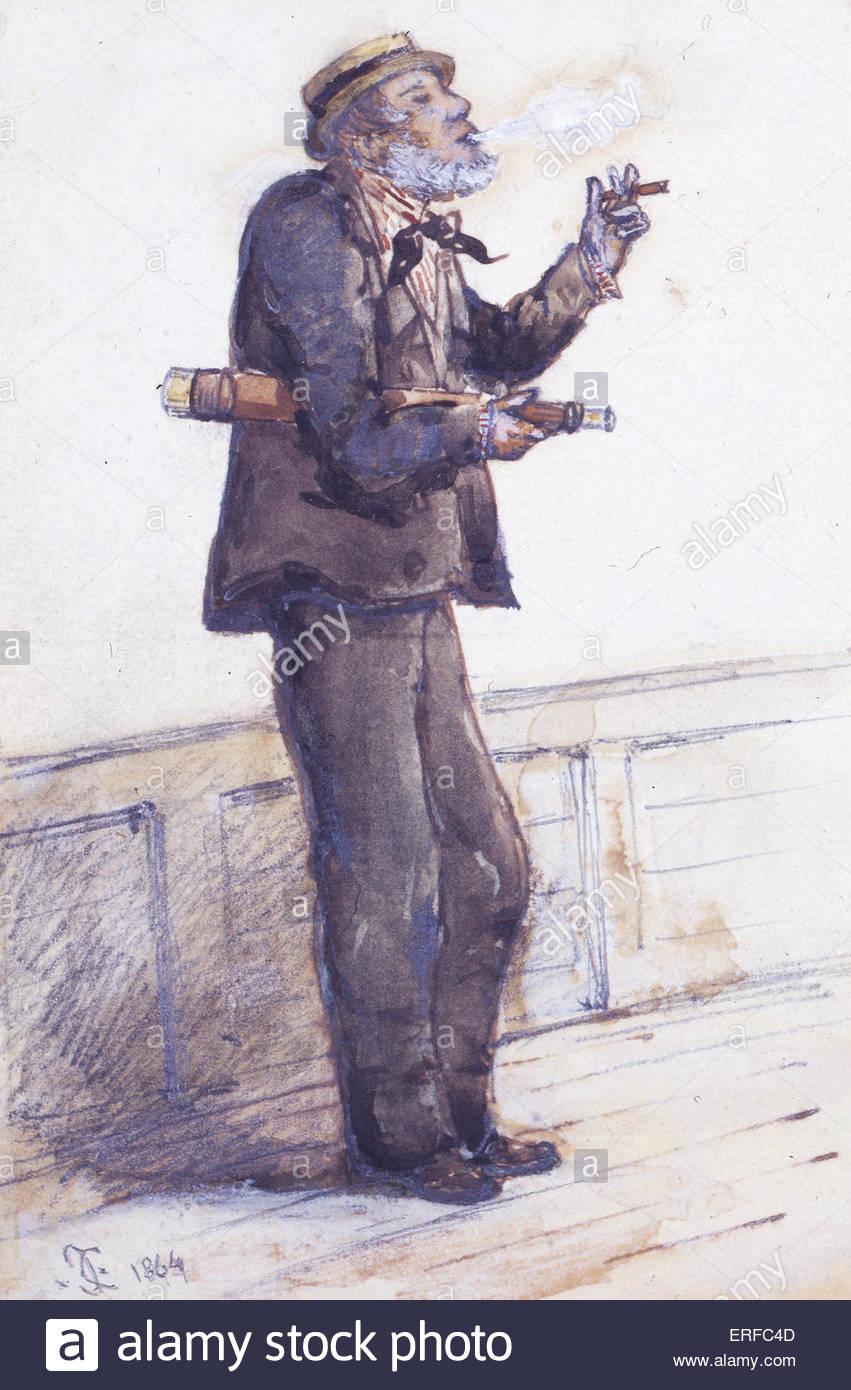 Cartoon di G W (Big Ben) Bentinck, 1864. Conservatore britannico MP. La cortesia del Royal Yacht Squadron, Cowes, Immagini Stock