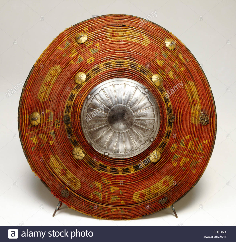 Bagno turco a spirale scudo di Canna, del XVII secolo. La cortesia la Torre di Londra. Immagini Stock
