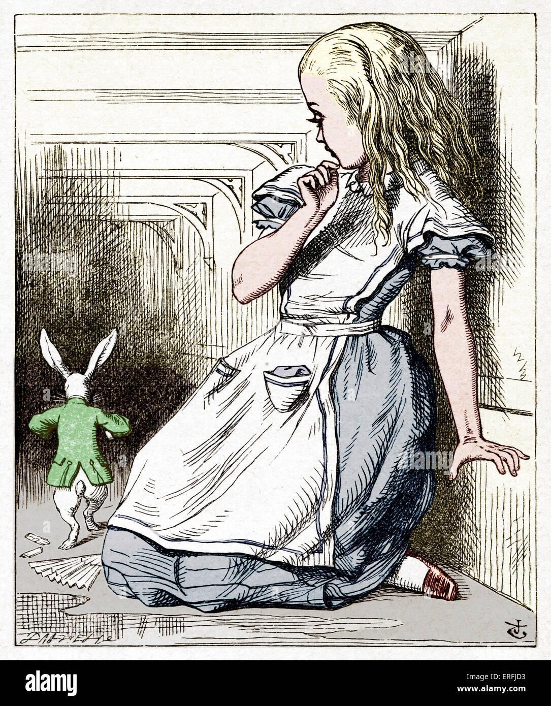 Alice E Il Coniglio Bianco Da Alice Nel Paese Delle Meraviglie Da