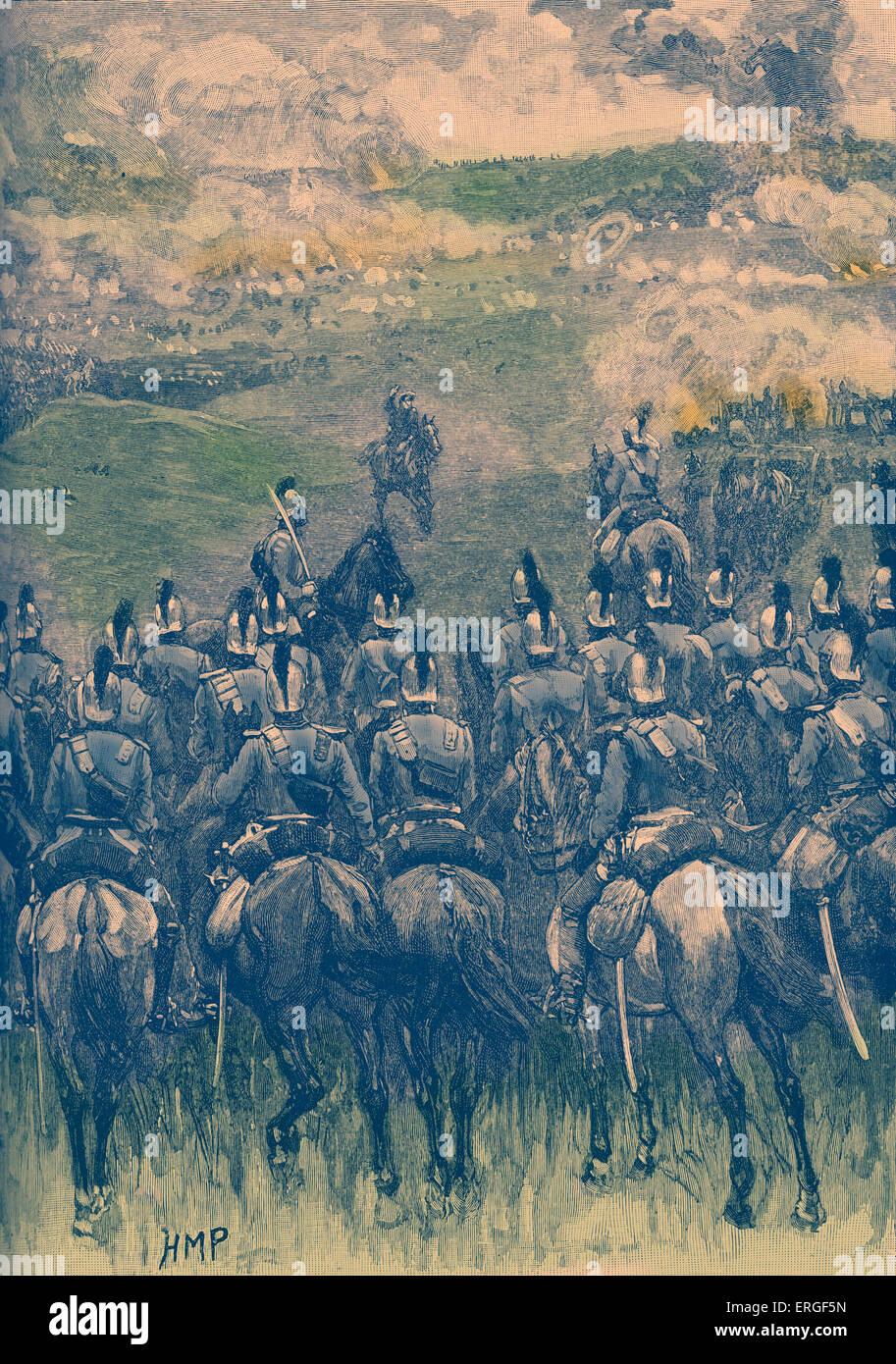 Battaglia di Königgrätz, 3 luglio 1866. Battaglia decisiva di Austro-Prussian guerra combattuta tra la Immagini Stock