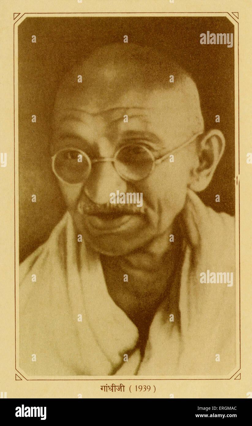 Il Mahatma Gandhi (1869-1948). Gandhi condurre la campagna per Swaraj (o 'Home-Rule') dal 1921, quando ha Immagini Stock