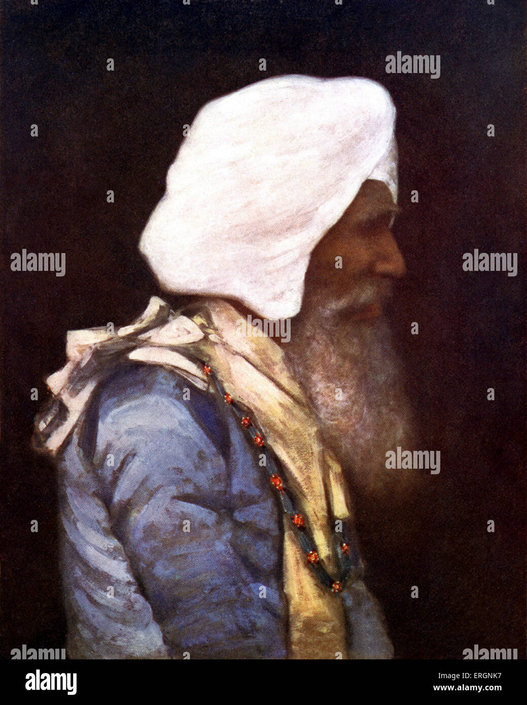 Il Maharaja di Nabha, un membro della religione Sikh Royal House nel Punjab (India). Maharaja Hira Singh, 18 Dicembre Immagini Stock