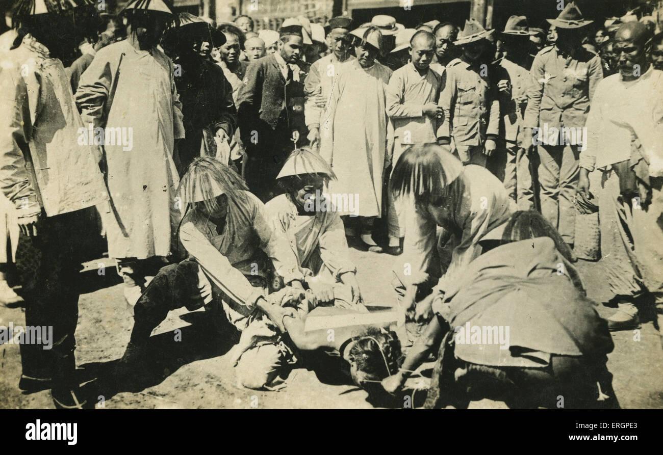 Esecuzione per decapitazione, Cina, nei primi anni del XX secolo. Decapitato Immagini Stock