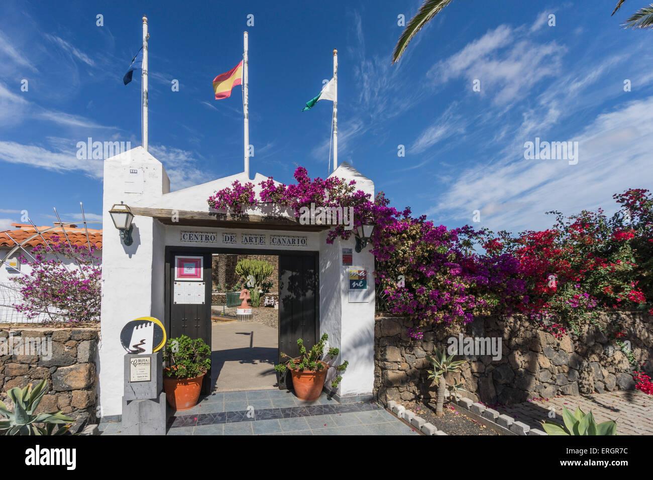 Centro de Arte Canario, Museo d'arte, La Oliva, Fuerteventura, Isole Canarie, Spagna Immagini Stock