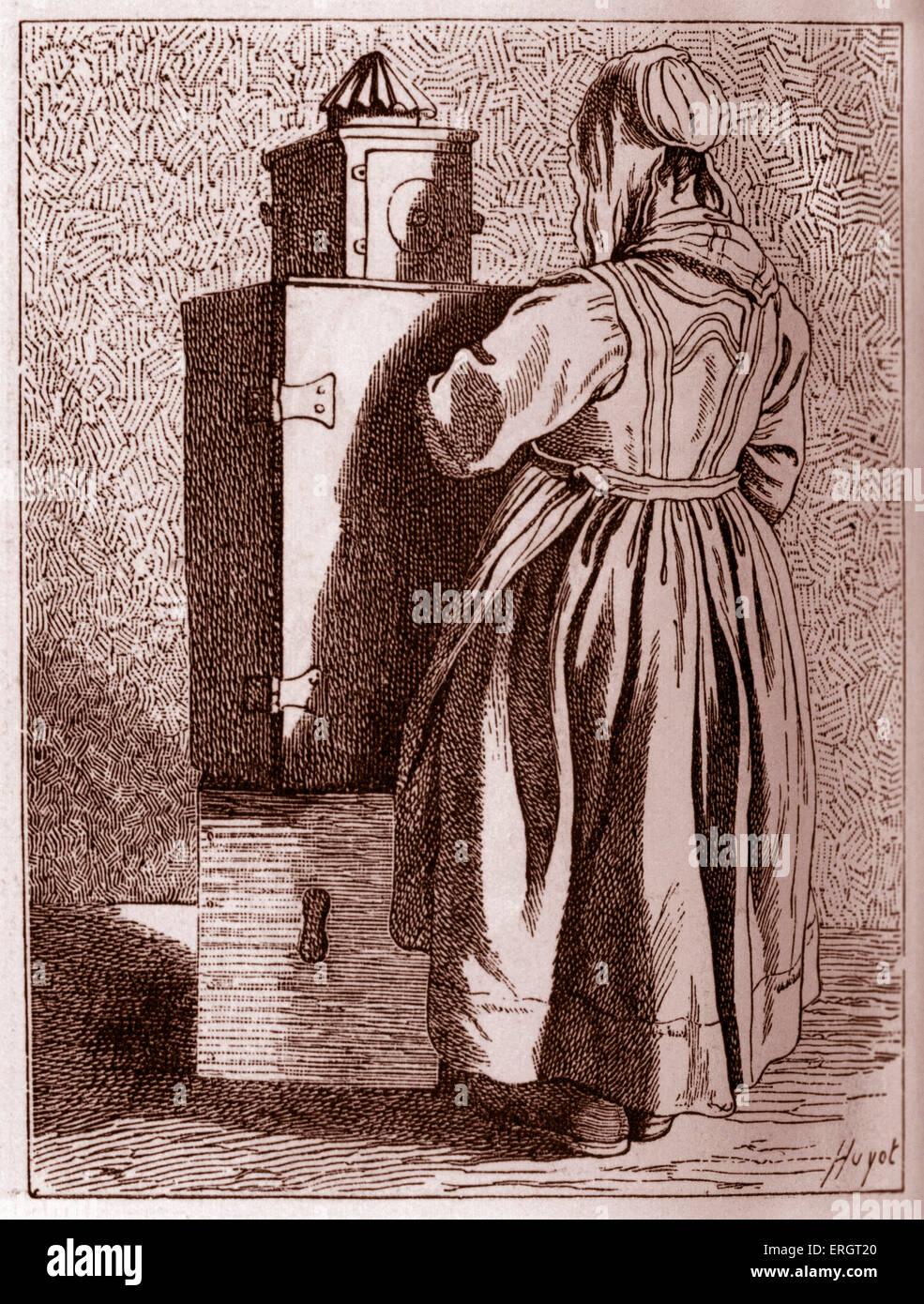La vita quotidiana nella storia francese  una lanterna magica street  interprete nel XVIII secolo a Parigi d02a8acb4823
