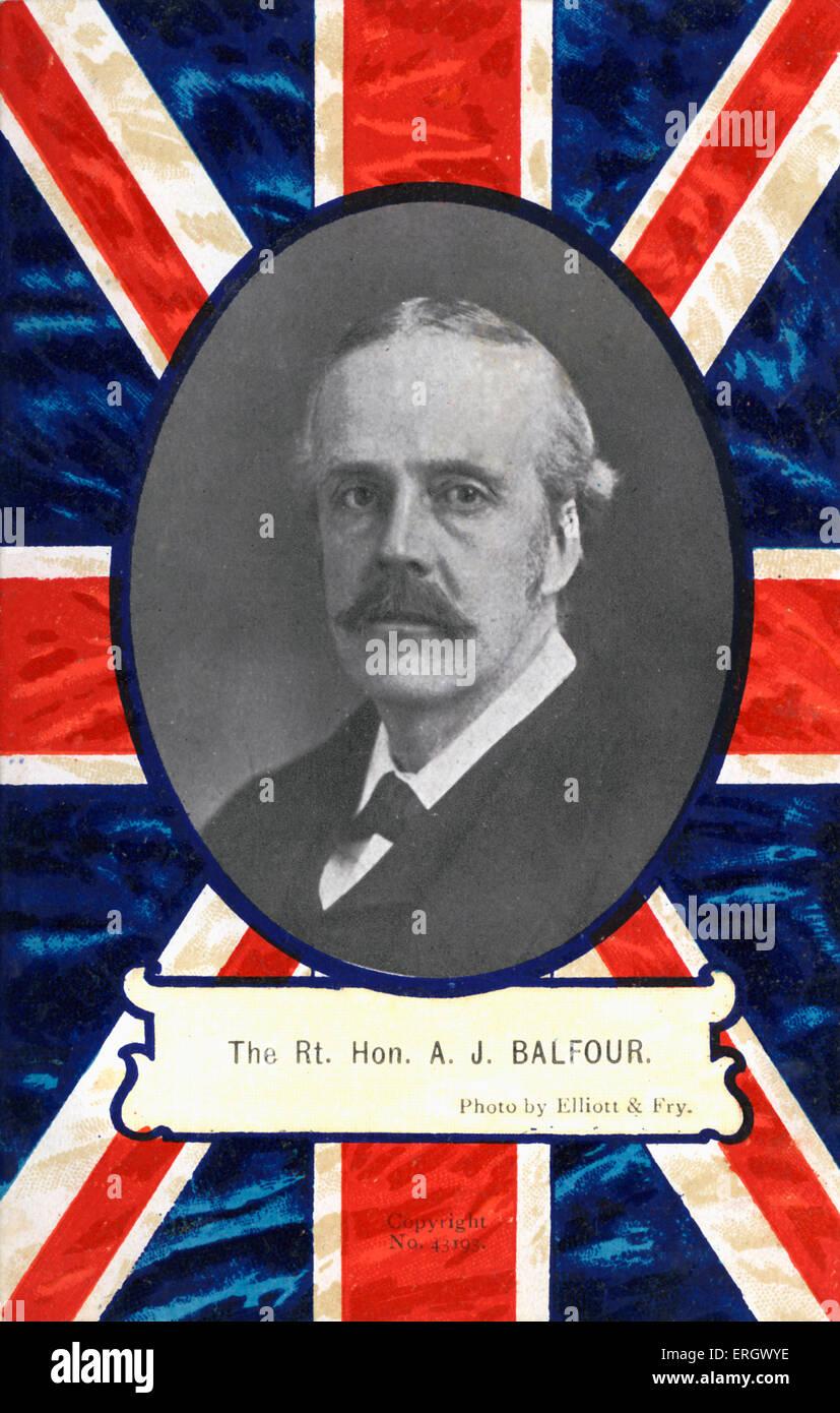 BALFOUR, il diritto agli onorevoli A J - Ritratto creatore della Dichiarazione Balfour - previsto per la creazione Immagini Stock
