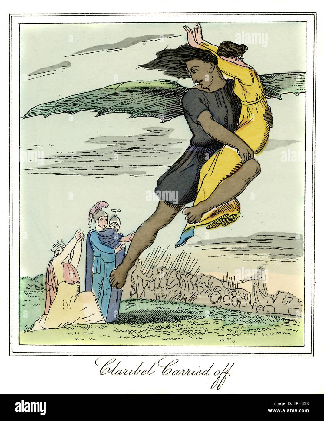 """""""Claribel portato off' - Princess Claribel è rapita dal incantatore. Da 'Principe Dorus: o lusinghe Immagini Stock"""
