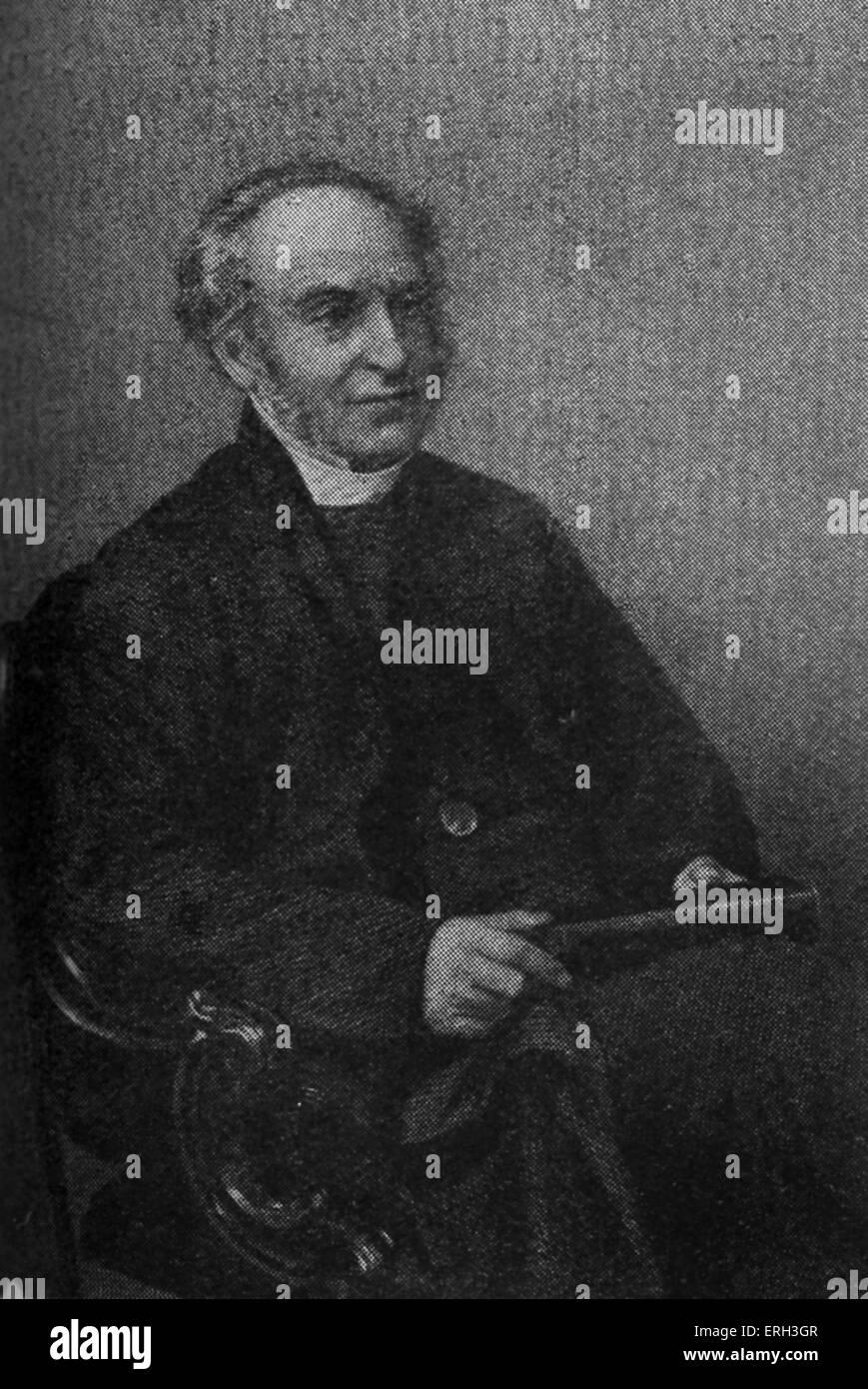 Rev Derwent Coleridge (14 settembre 1800 - 28 Marzo 1883), autore, sacerdote, il Pedagogo e il terzo figlio del Immagini Stock