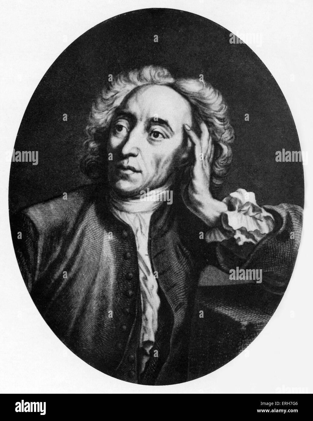 Alexander Pope - ritratto. Xviii secolo del poeta inglese 21 Maggio 1688 - 30 Maggio 1744 Immagini Stock