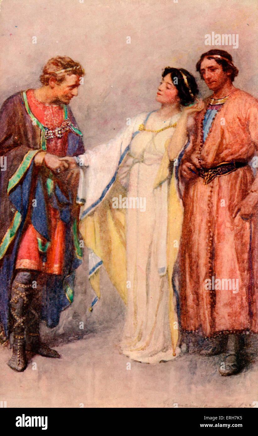 """William Shakespeare - Inverno del racconto. Illustrazione di G domani Hammond (1862-1953). """"Egli ha detto che Immagini Stock"""