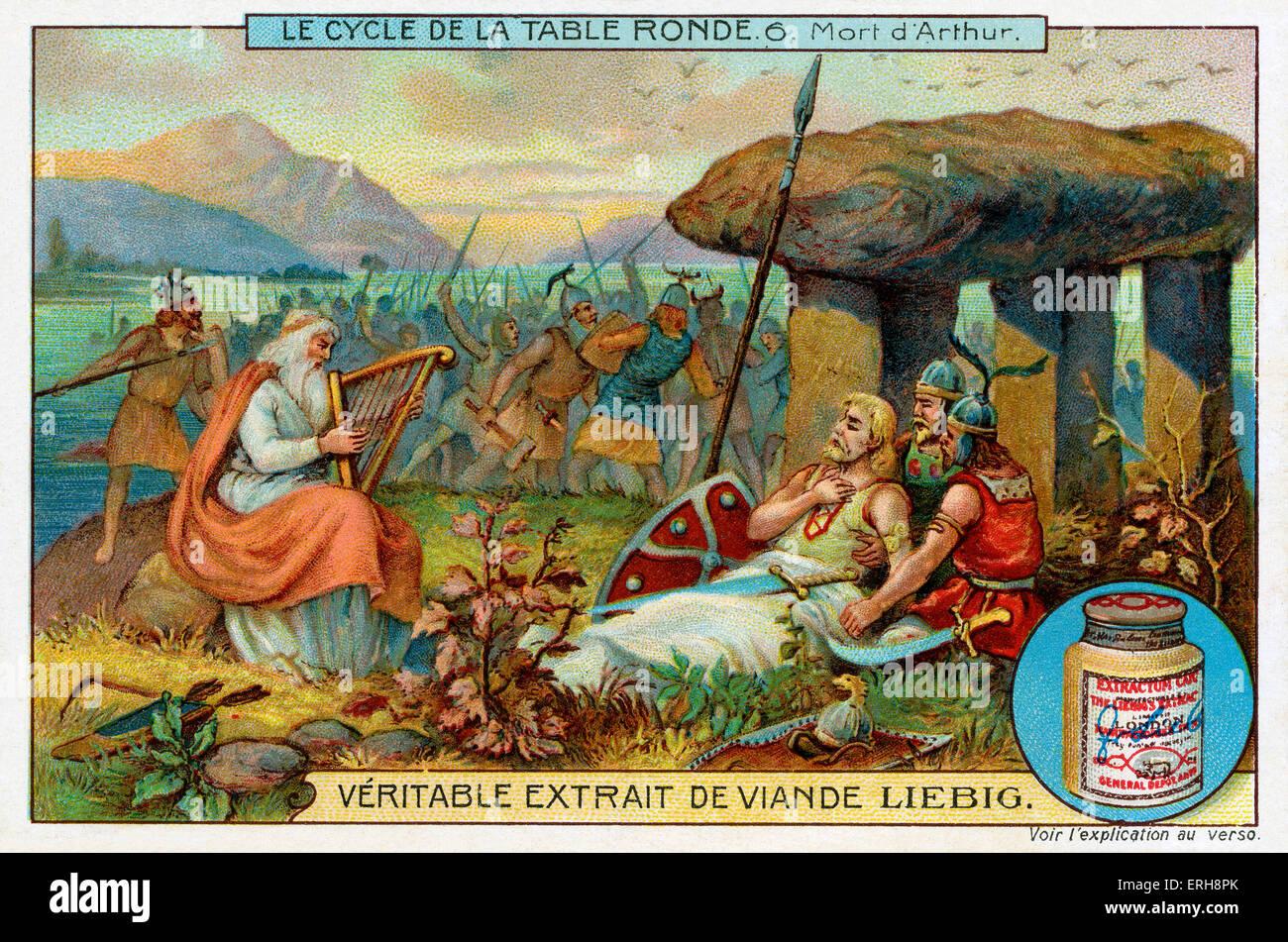 I cavalieri della tavola rotonda la morte di re art liebig carte collezionabili serie 39 le - Re artu ei cavalieri della tavola rotonda ...