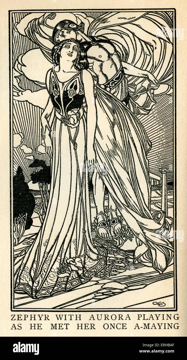 L'Allegro da John Milton (1608-1674). La didascalia recita: Zephyr con Aurora giocando come la ha incontrata Immagini Stock