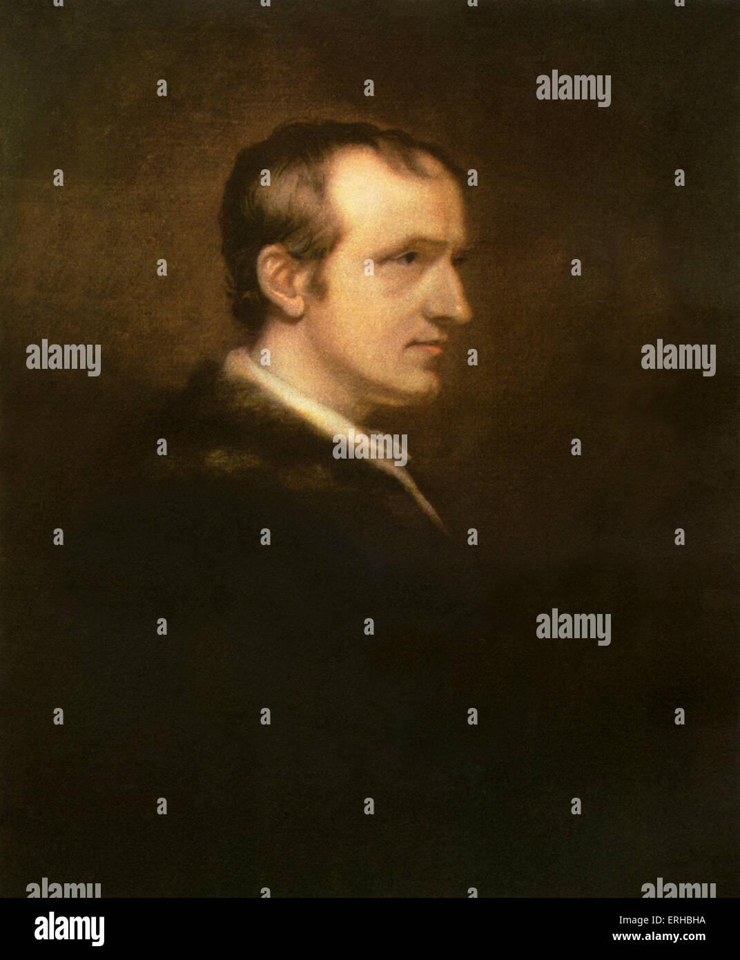 William Godwin - dopo la pittura di olio da William Godwin. Politico inglese e un romanziere, scrittore 3 Marzo Immagini Stock