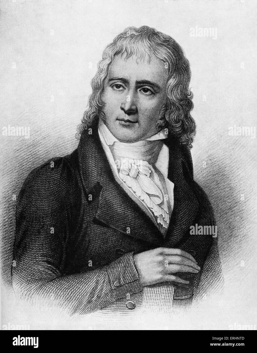 Benjamin Constant nel 1800. Costante Henri-Benjamin de Rebecque, Swiss-nato, scrittore e uomo politico francese. Immagini Stock