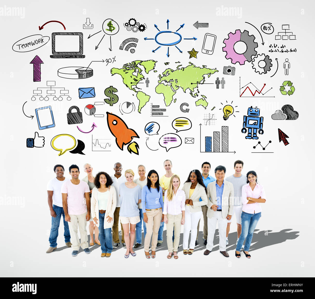 Il Social Networking Immagini Stock