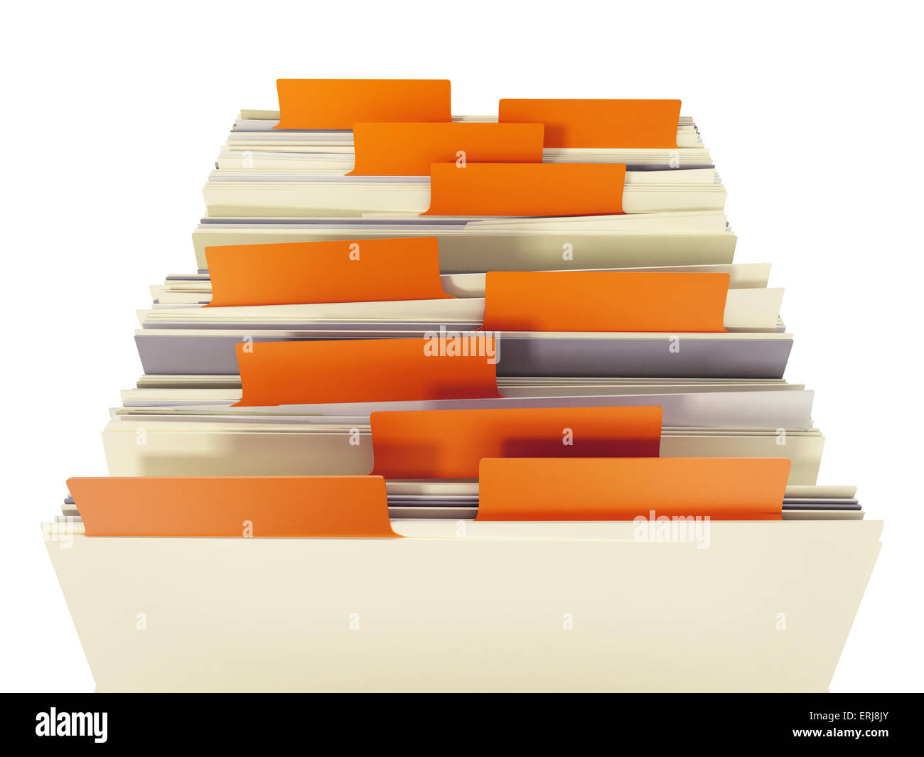 Scheda File di catalogo cassetto isolato su sfondo bianco. Immagini Stock