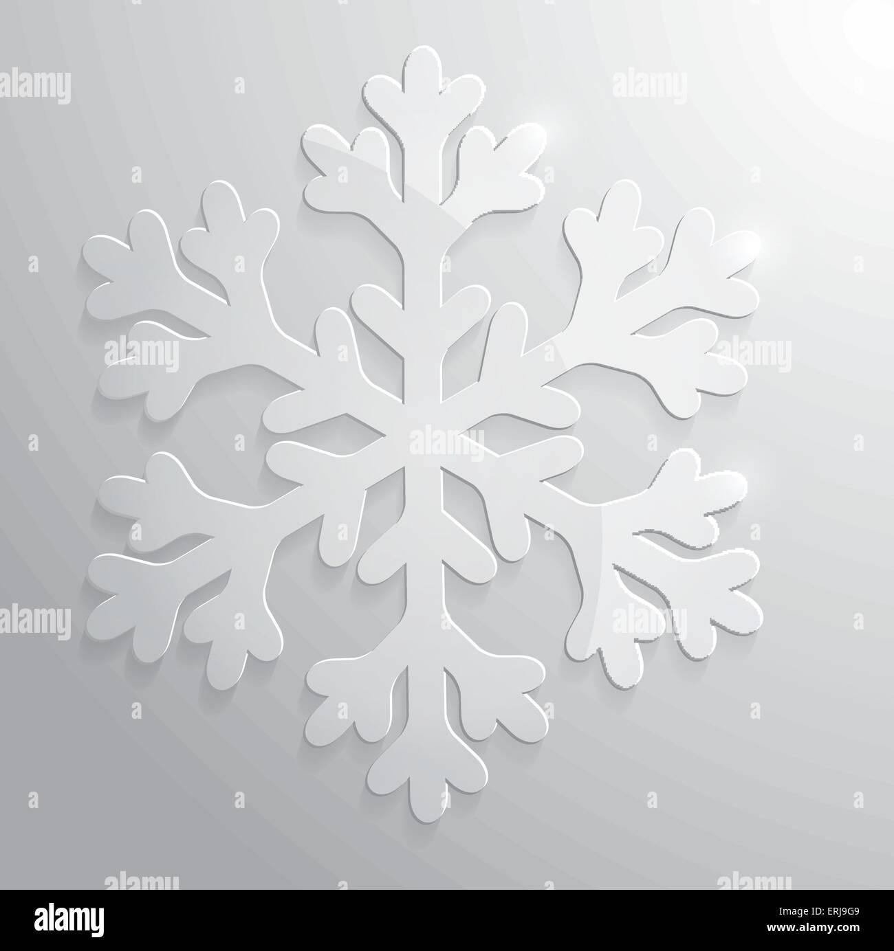 Il simbolo del fiocco di neve in vetro. Natale illustrazione vettoriale EPS10. Immagini Stock