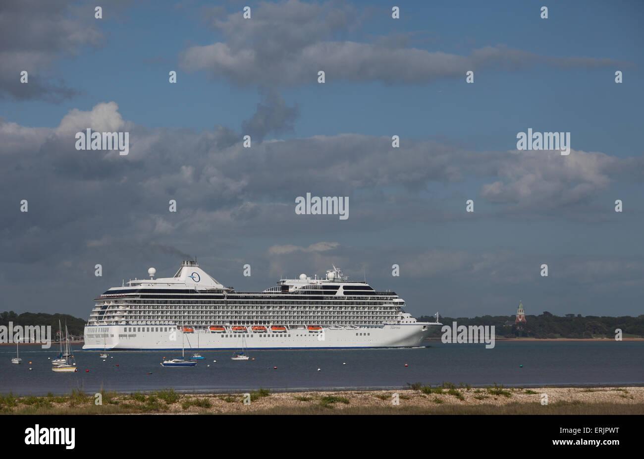Oceania nave da crociera MS Marina foto lasciando Southampton Immagini Stock