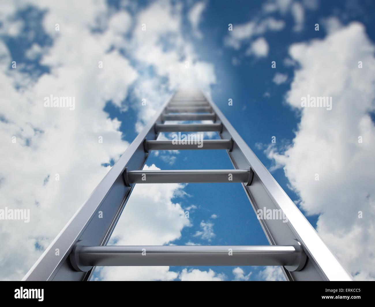La scala verso il cielo Immagini Stock