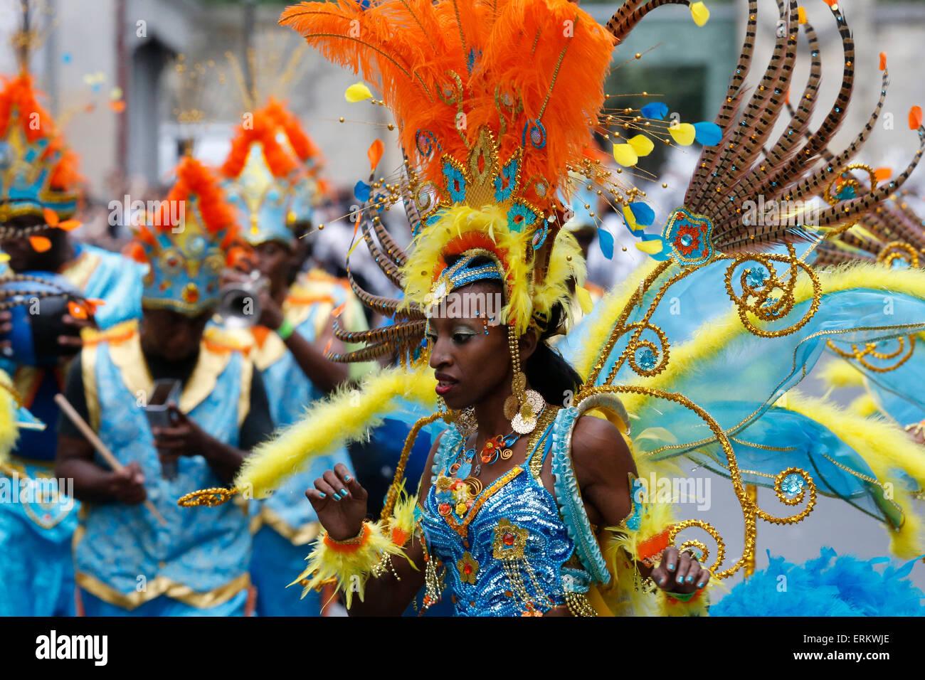 Parigi Tropical carnevale estivo, Parigi, Francia, Europa Immagini Stock