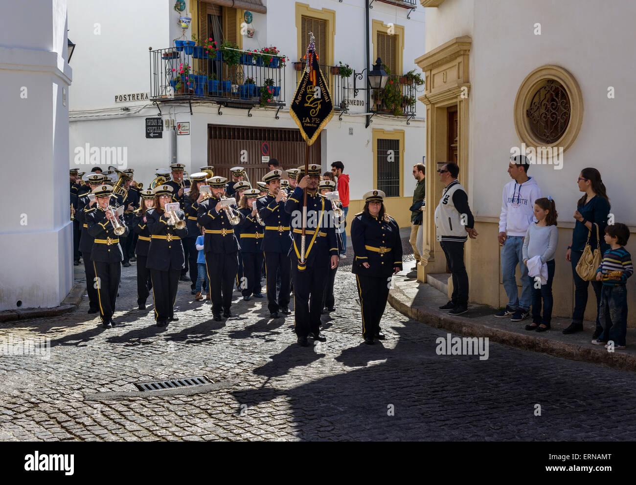 Marching Band a Cordoba Spagna Immagini Stock