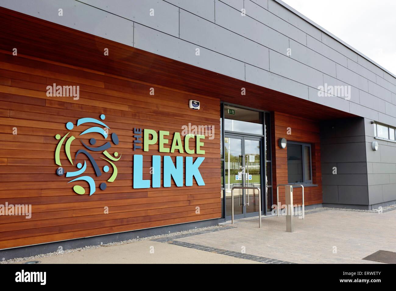Il collegamento di pace impianti sportivi cloni contea di Monaghan Repubblica di Irlanda Immagini Stock