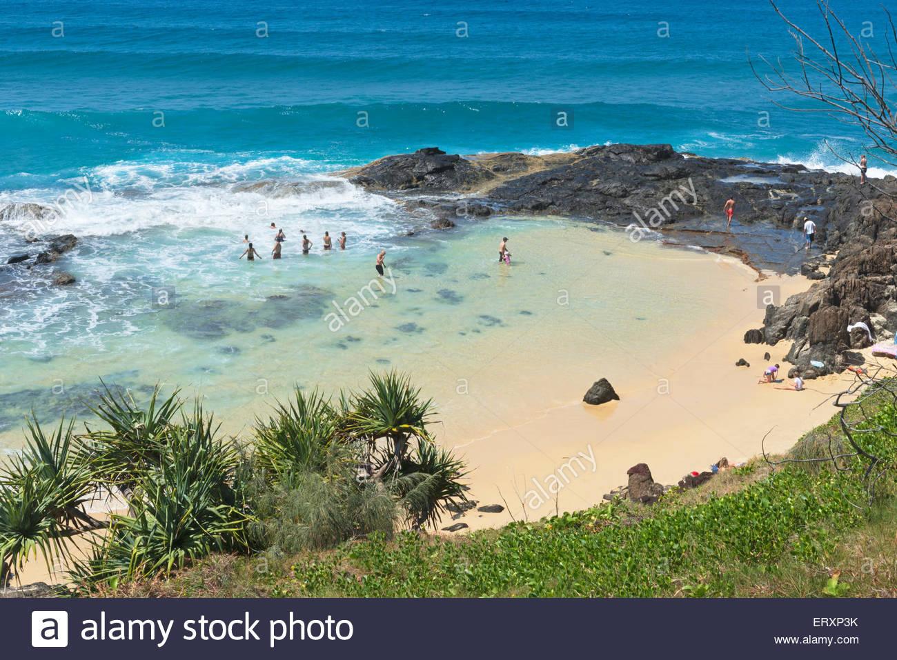 Pool di Champagne, l'Isola di Fraser, Queensland, Australia Immagini Stock