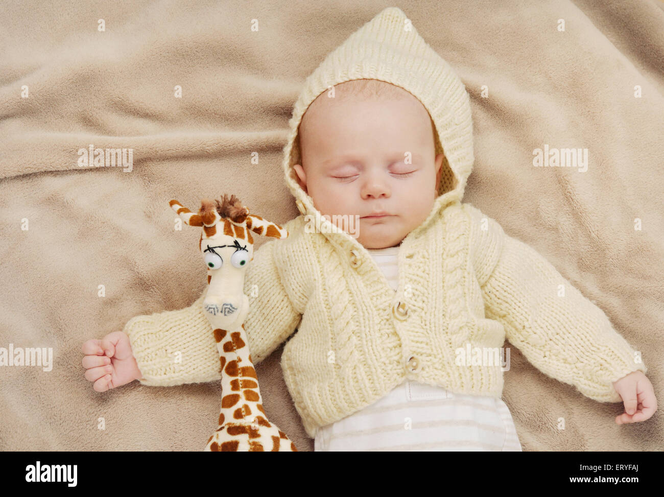 Carino a pelo neonato, concetto di maternità, soft immagine della bella famiglia Foto Stock