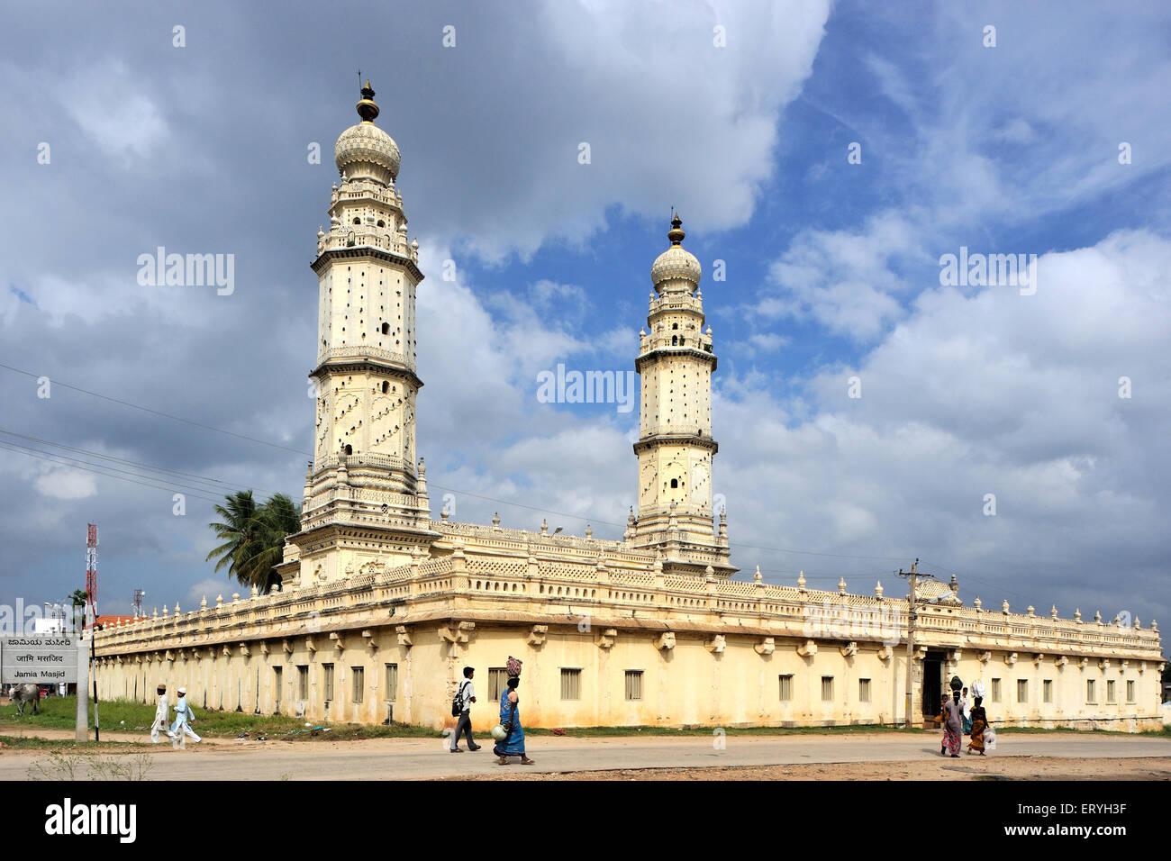 Masjid e ala o Jama Masjid , srirangapatna , mysuru , karnataka , India Immagini Stock
