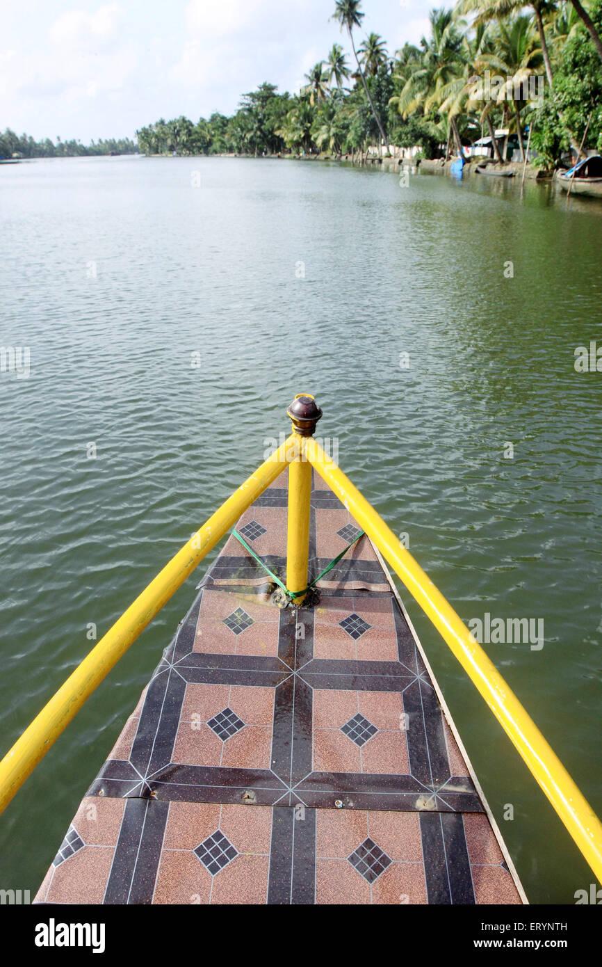 Barca al lago punnamada ; Alleppey ; Alappuzha ; Kerala ; India Immagini Stock