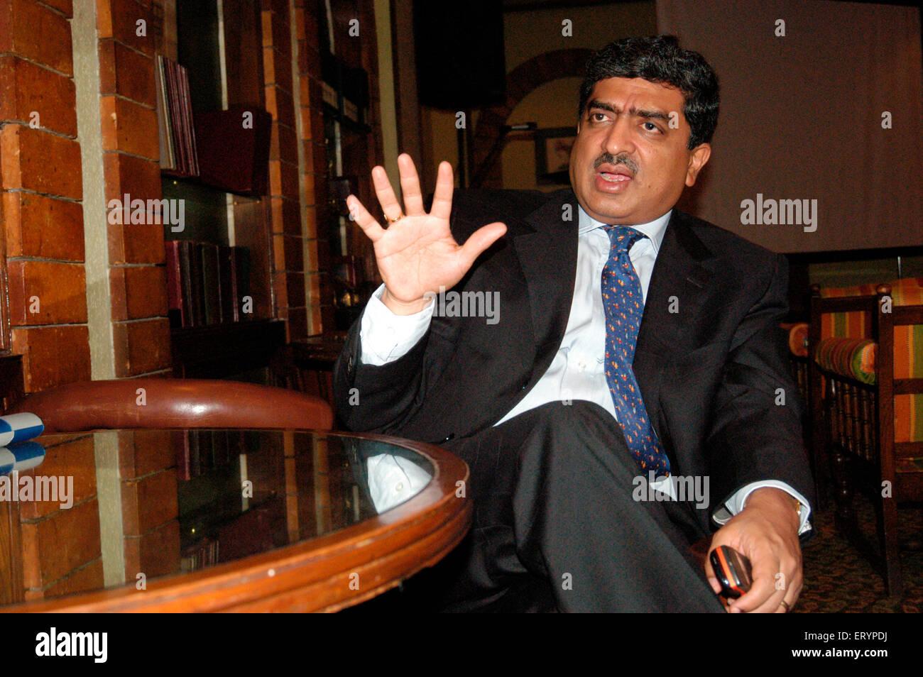 M. Nandan Nilekani Co presidente del consiglio di amministrazione di Infosys Technologies Limited India Immagini Stock