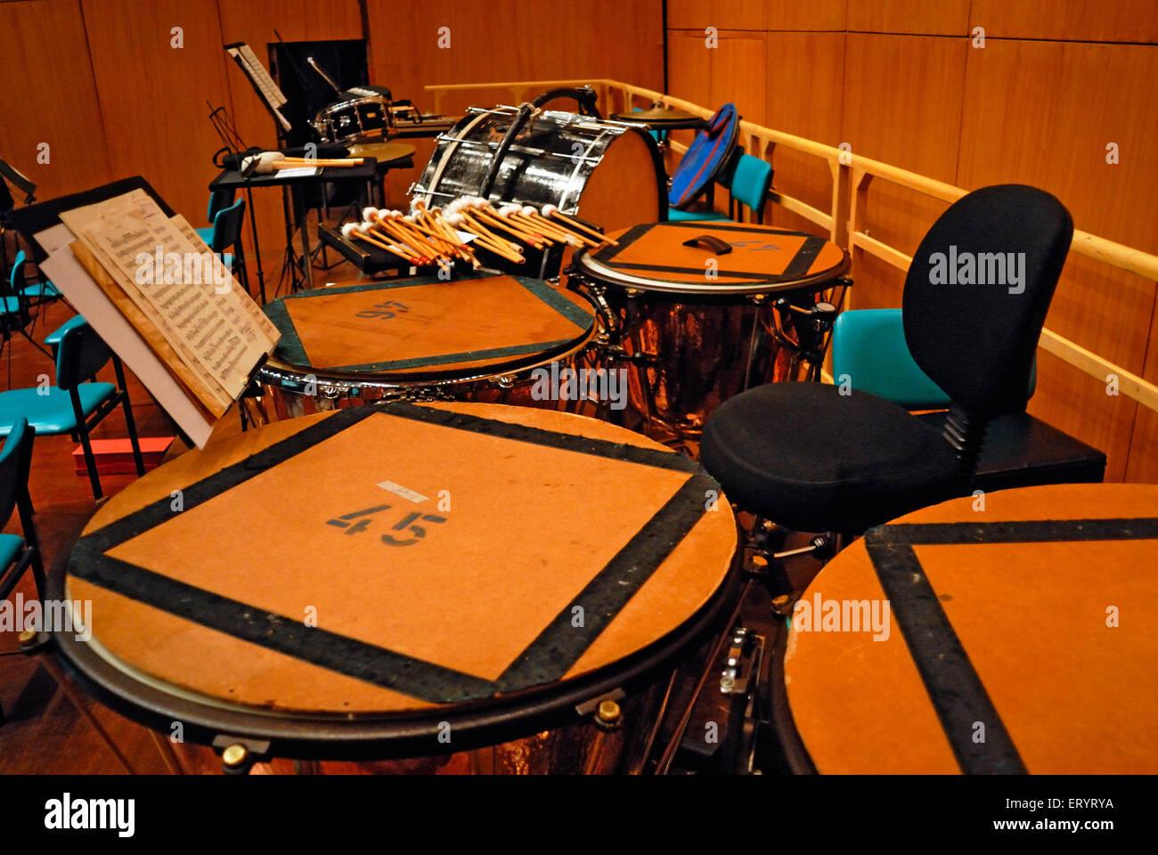 Note di musica e strumenti a NCPA ; Mumbai Bombay ; Maharashtra ; India n. MR 7 Ottobre 2008 Immagini Stock